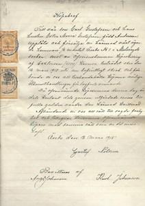 Köpebrev 1915
