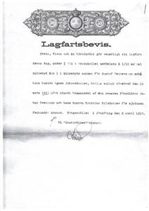 Östergärdet lagfart 1917