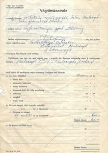 Östergärdet vägrättskontrakt 1961