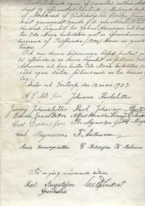 Högaberg köpekontrakt 1903