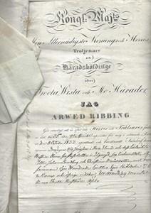 Bygget, 1835 registrering av köp