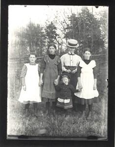 Bo säteri, Nanny Fallenius med sina barn