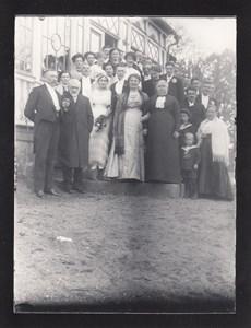 Bröllop på Hällinge 1913