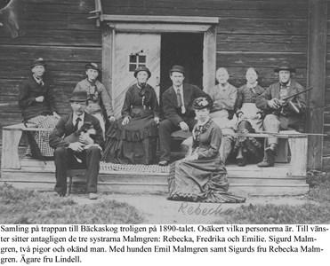 Bäckaskog. På trappan 1890-tal.
