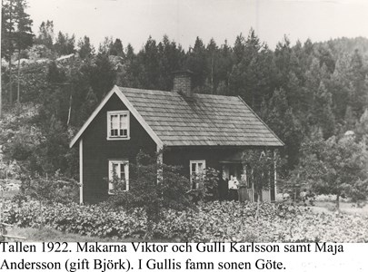 Tallen. Boningshuset 1922.