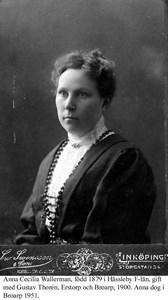 Anna Cecilia Wallerman.