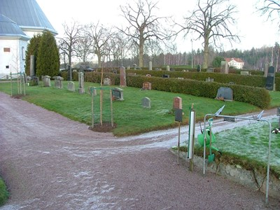 Norra Vi kyrkogård. Södra delen.