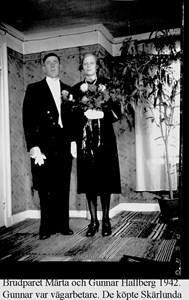 Skärlunda. Märta och Gunnar Hallberg.