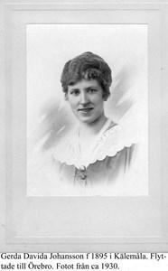 Gerda Johansson porträtt