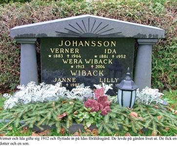 Gravsten Familjegrav Verner och Ida Johansson