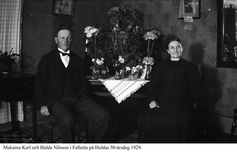 Fallerås. Karl och Hulda Nilsson.