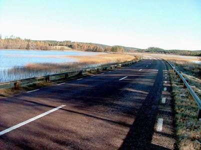Vägen över sjön Nästången..