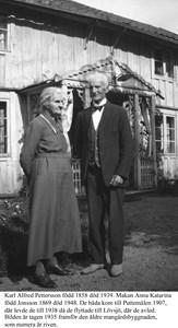 Puttemålen. Karl Alfred och Anna Pettersson.
