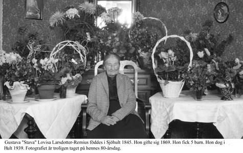 Gustava Lovisa Larsdotter-Remius.