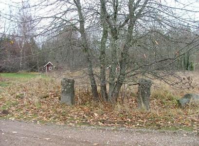 Njärvehult Norrgård. Äldre grindstolpar.