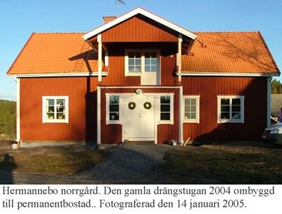 Herrmannebo Norrgård. Ny mangårdsbyggnad.