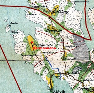 Karta över Herrmannebo
