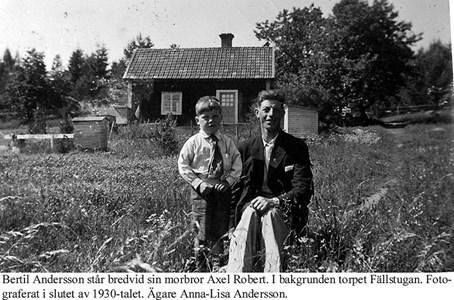 Fällstugan. Bertil och Robert.