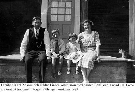Fällstugan. Familjen Karl och Hildur Andersson.