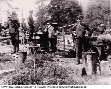 Arbetare vid tubbygget