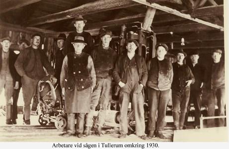 Arbetare vid sågen Tullerum