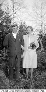 Norrnäs. Erik och Gerda Fransson.