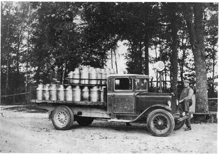 Den första mjölkbilen