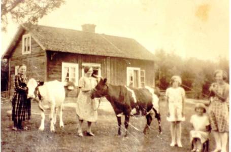 Carin Jansson med barn, Lilly och barnbarn Elisabet, Britta och Karin .jpg