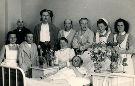 Bild från Östervåla Sjukstuga år 1949