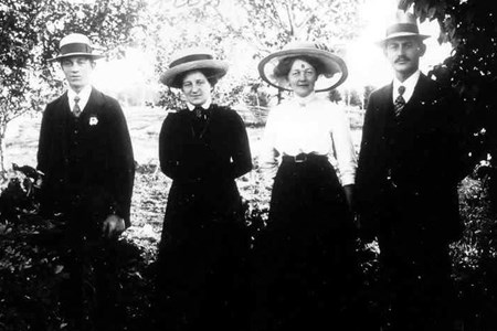 Enok Lindblom, Hanna Lindblom, Edla Lindblom, Georg Lindblom.jpg