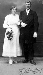 Maria och Leonard Larsson, Korsbo, Östervåla