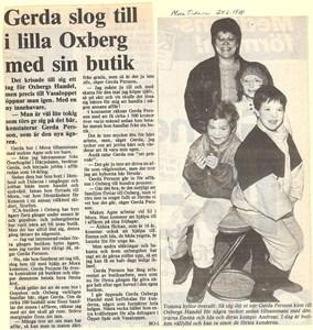 Butiksföreståndare Gerda Persson - artikel i MT 1988.jpg