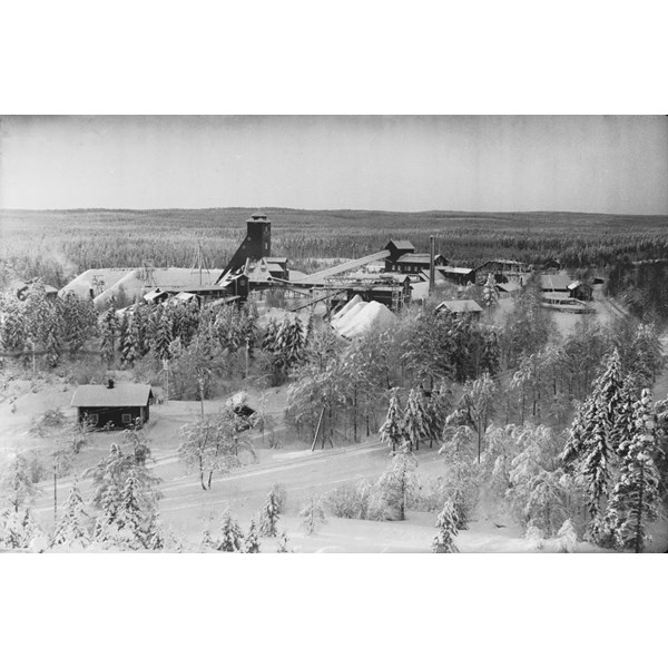 Källfallsgruvan med Alarik Larssons lave.