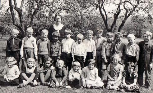 Herrevadsklosters skola 1937 klass 1 och 2