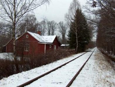 Banvaktsstugan i Lilla Kloster, vinterbild