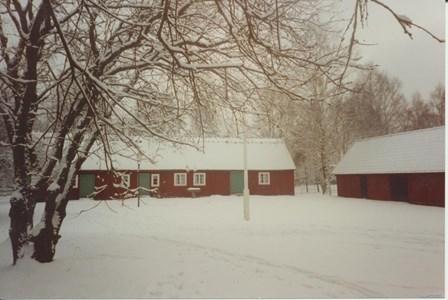 Hembygdsstugan i vinterskrud