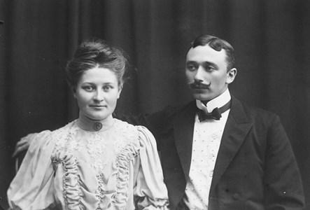 Hjalmar Stenborg med hustru