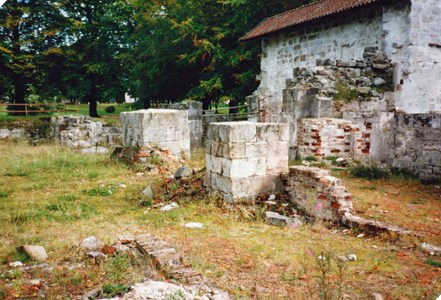 Kapellet vid utgrävning på 1980-talet