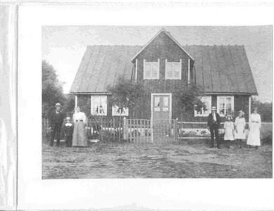 Bökesåkra, fam Dyberg, ca 1912-14
