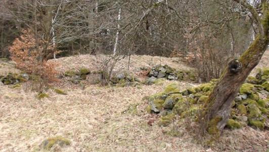 Ruinrester efter Frihult 2017