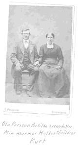 Hulda Dybergs föräldrar Ola Persson o Botilda Svensdr