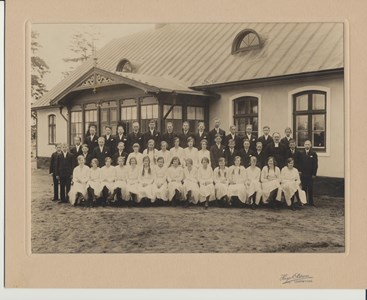 Konfirmandgrupp i Riseberga