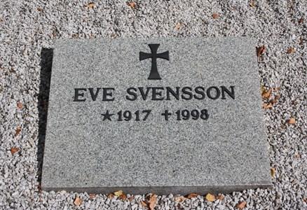 Gravsten Riseberga Eve Svensson, Rynke