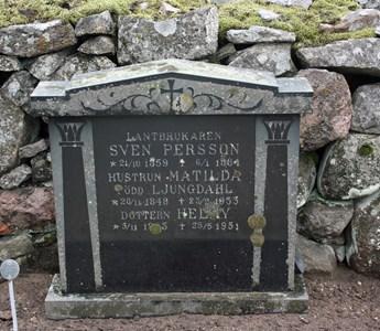 Gravsten Riseberga Sven Persson, Ljungby
