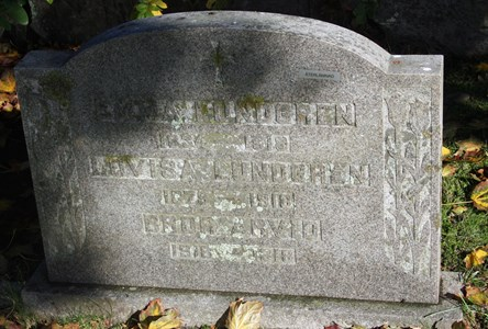 Gravsten Riseberga Emma Lundgren, Allarp