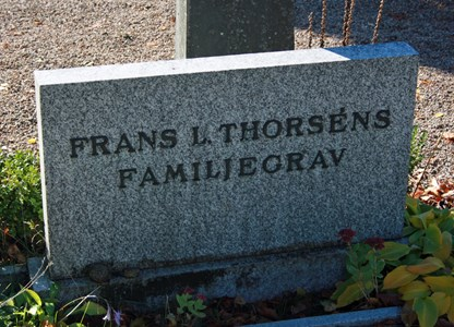 Gravsten Riseberga Frans Thorsén, Ljungbyhed