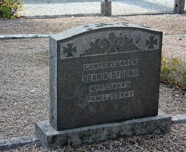 Gravsten Riseberga Henrik Dyberg, Bökesåkra