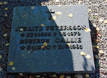 Gravsten Riseberga Jerlitz Pettersson, Ljungbyhed