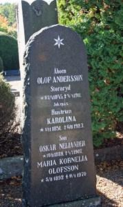 Gravsten Riseberga Olof Andersson, Storaryd