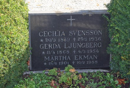 Gravsten Riseberga Cecilia Svensson, Hallagården